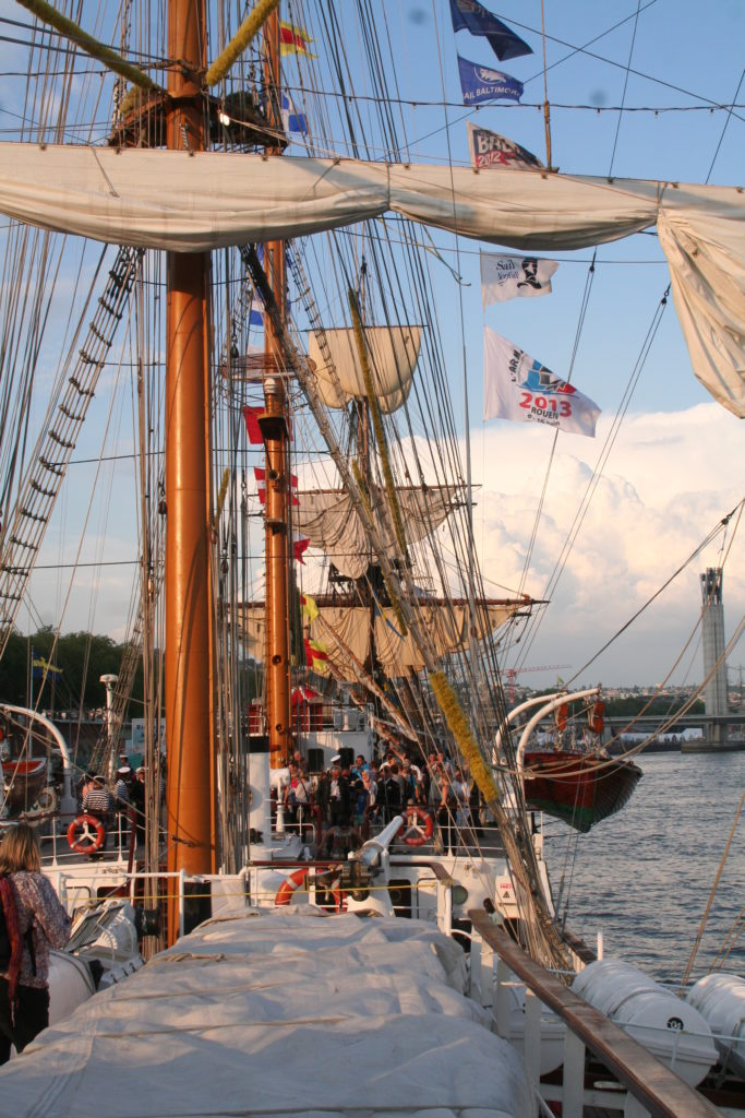 Old sailing ship at the Armada at Rouen festival
