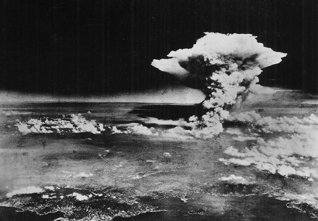 Atomic cloud over HIroshima