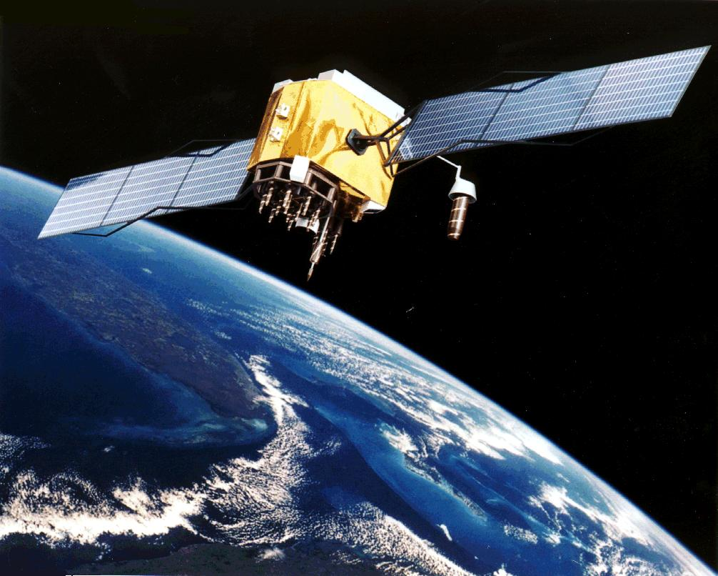 NASA GPS Satellite with earth in background