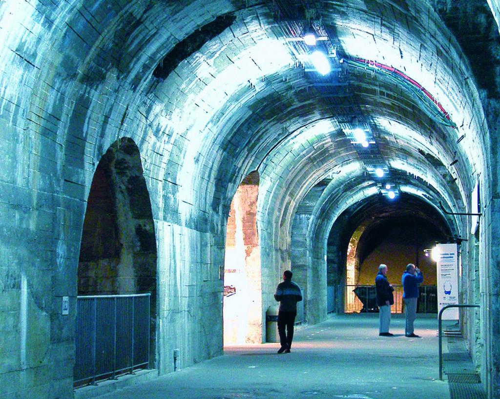 Long tunnel at La Coupole entrance
