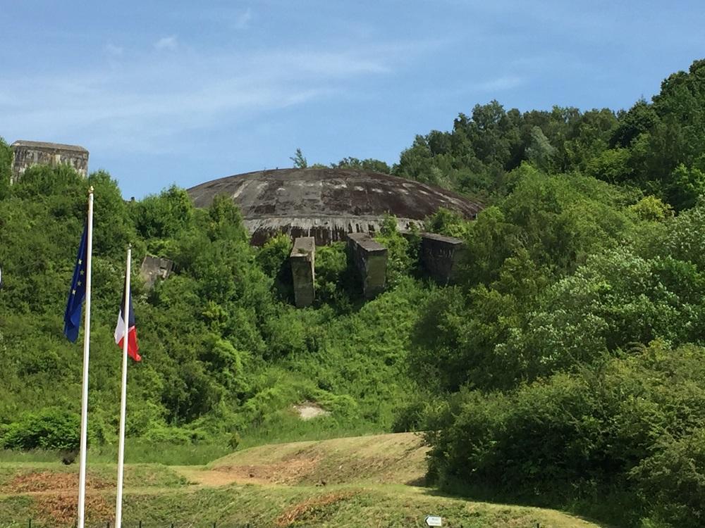 La Coupole concrete dome on hillside