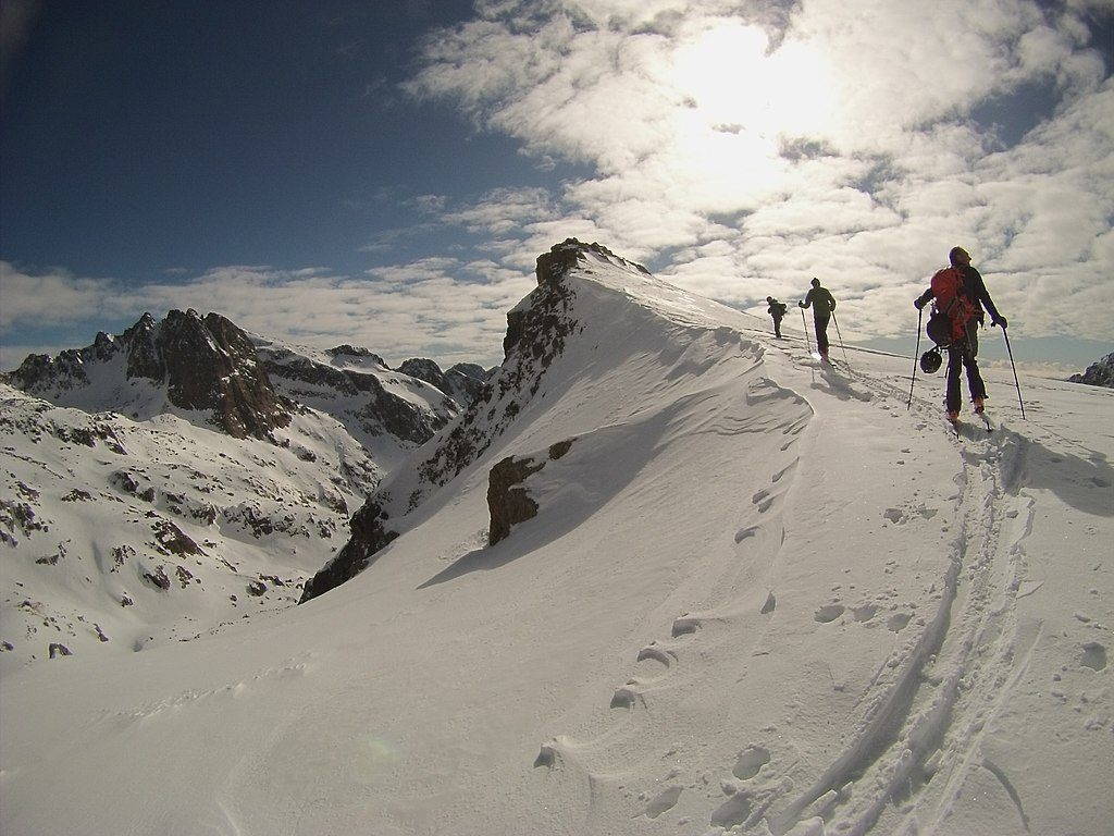 skiing in the Mercantour National Park near Nice