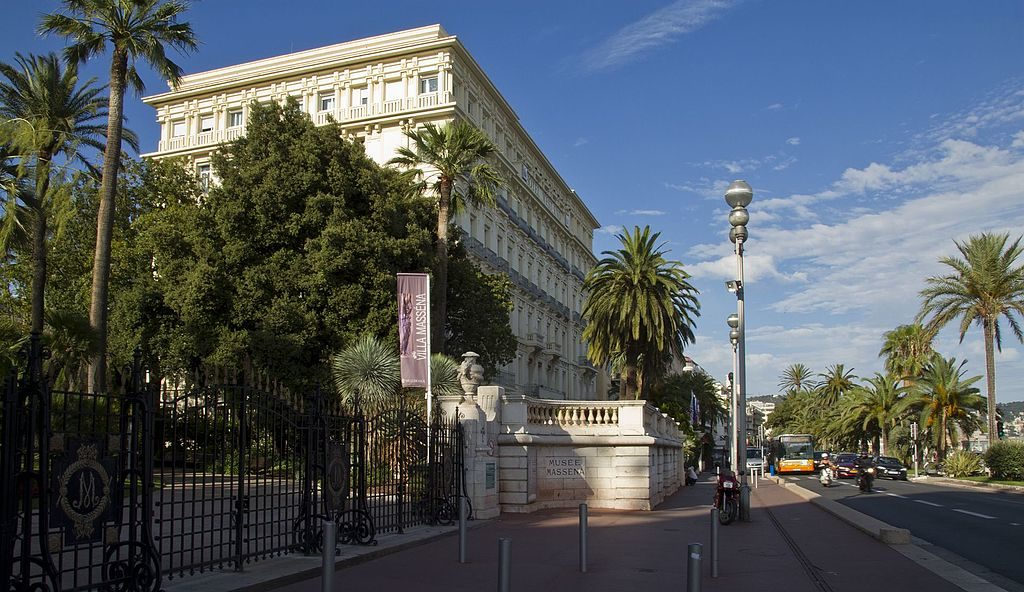 Promenade des Anglais in Nice with Massena museum