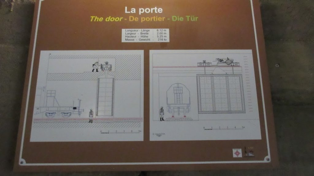 Explanation of the huge door at Eperlecques