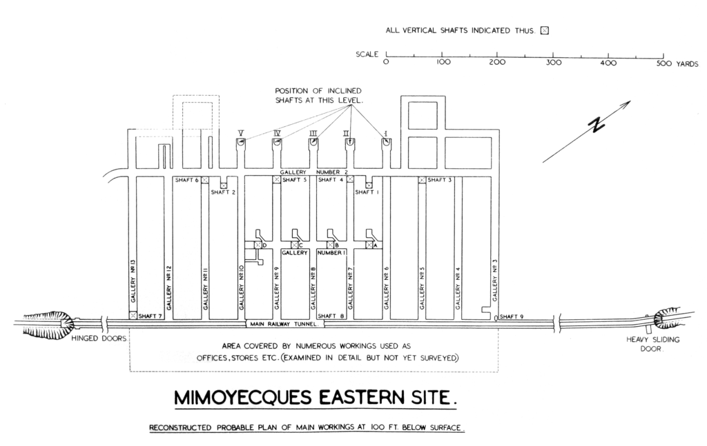 Eastern site plan at Mimoyecques