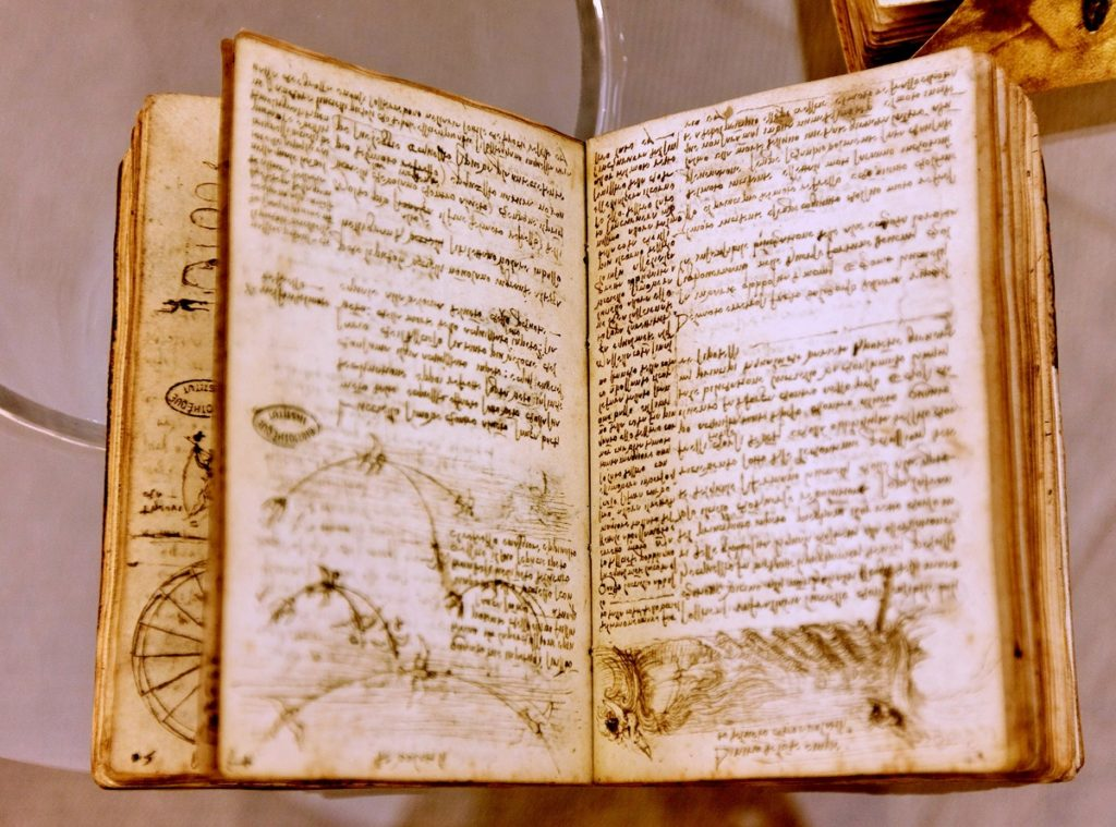 Leonardo's Books of notes at Clos Luce