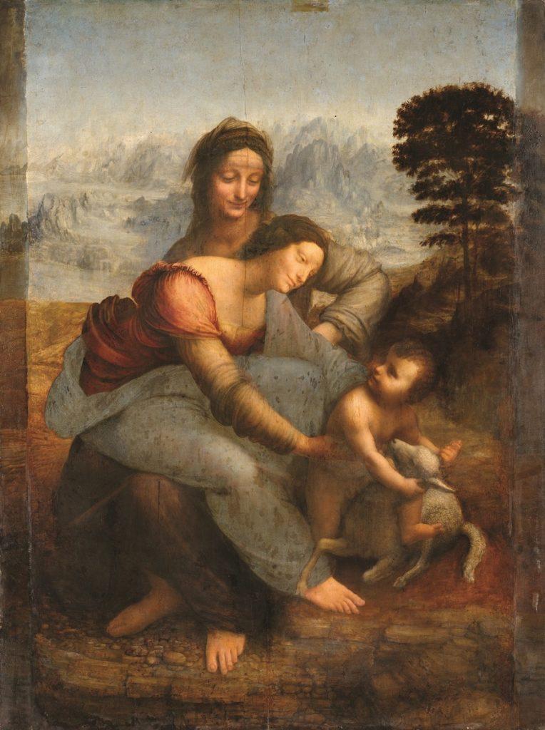 Virgin, Jesus and Saint Anne by Leonardo da Vinci
