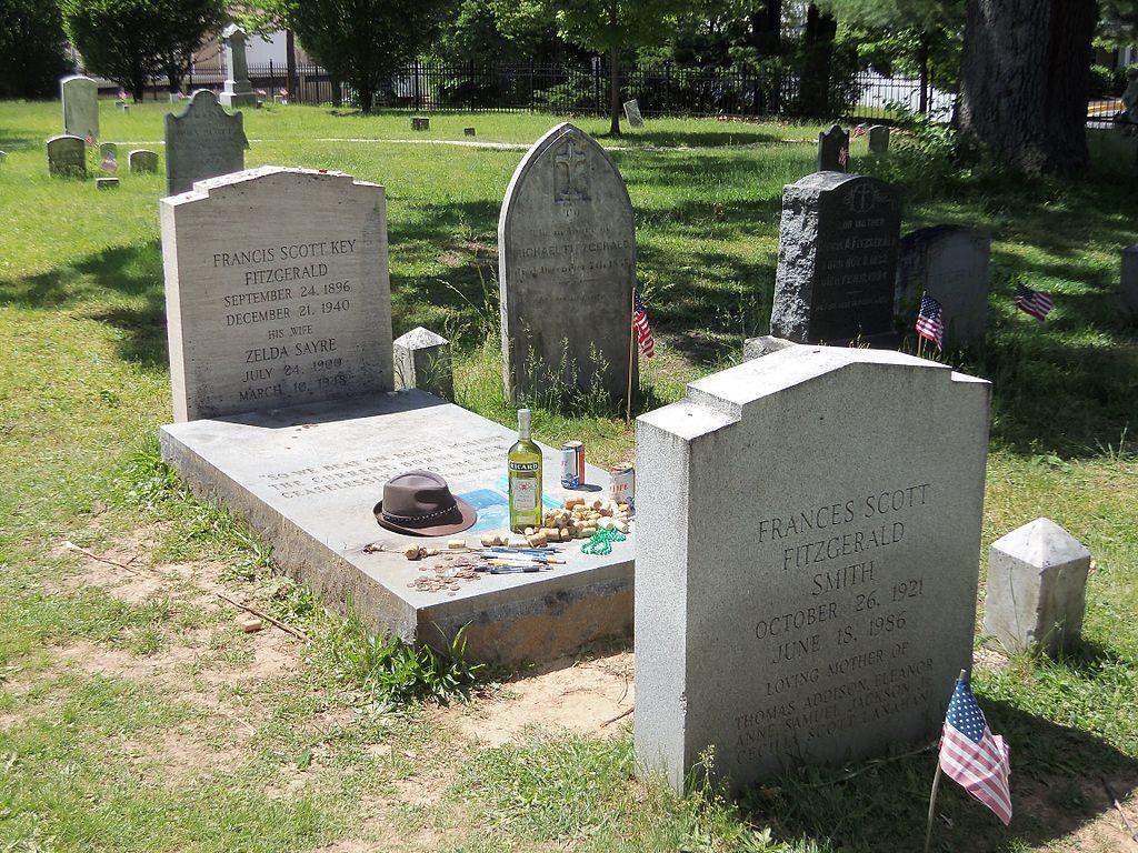 F Scott Fitzgerland and Zelda's tomb in Rockville Maryland.