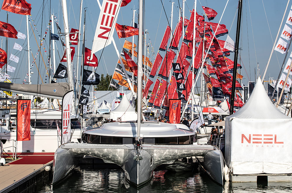 Boats onthe water at La Rochelle Grand bulwark Fair