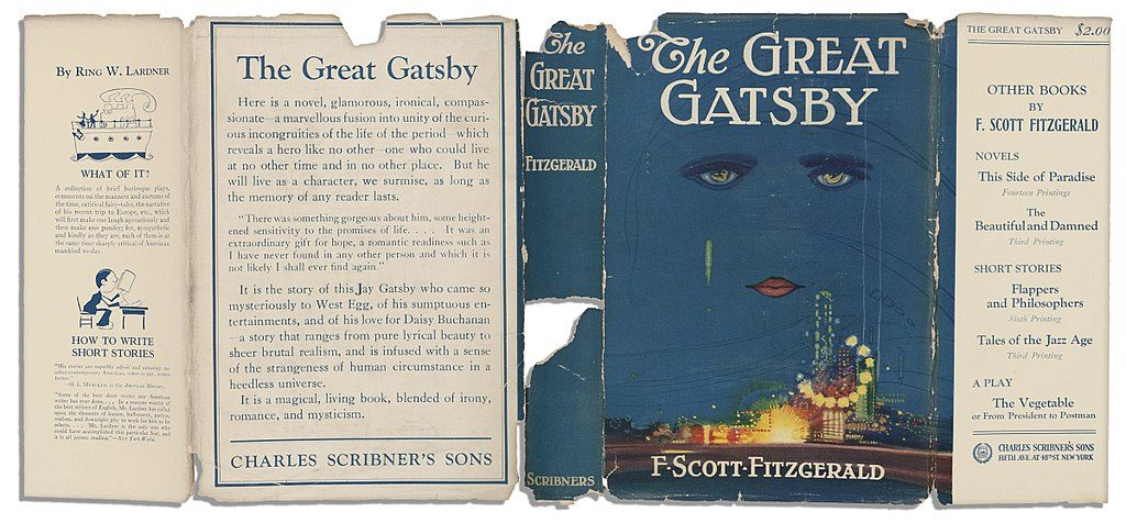 Paper cover of the Great Gatsby