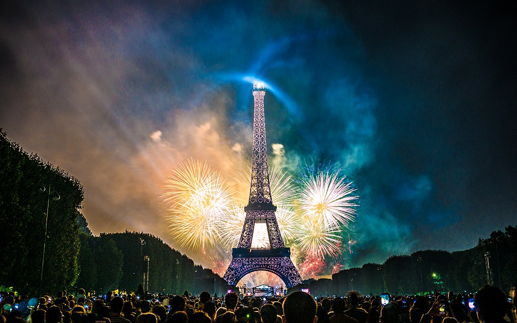 Fireworks over the Eiffel Tower