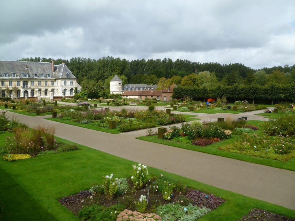 Viewover gardens to Valloire Abbey