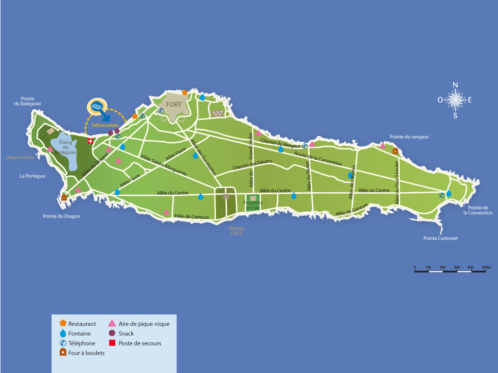 Map of Ile Ste Marguerite