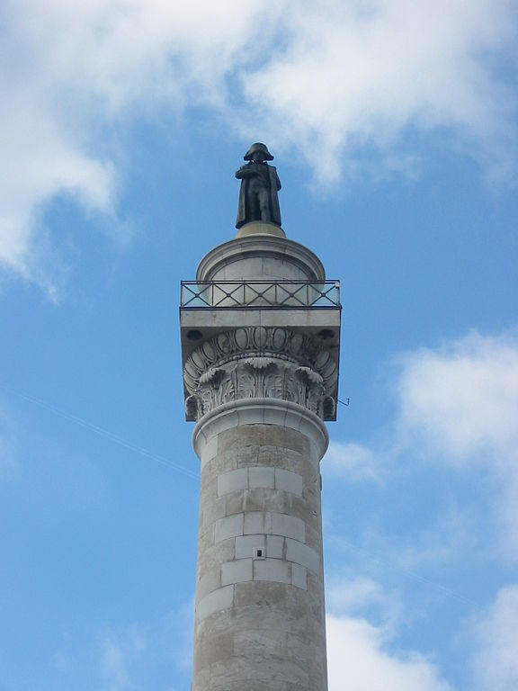 Statue of Napoleon in Boulgone at top of column