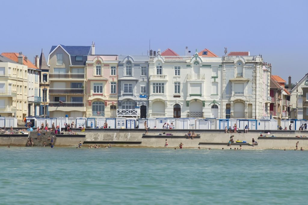 Grand belle epoque mansion on the seafront at Wimereux