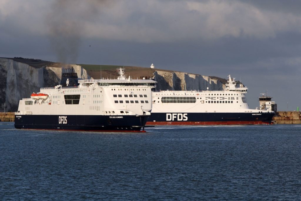 DFDS Ferries outside Dover